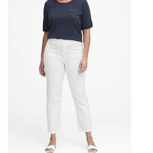 NWT Banana High Rise Straight Ankle Jeans 33S c442